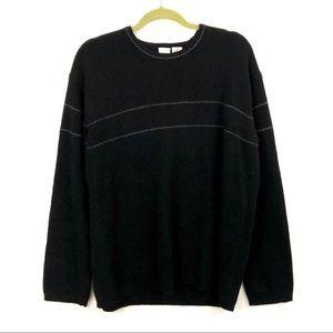 Armani Exchange Lambswool Sweater Black Mens